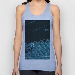 18-San Francisco North map, California 1947 Unisex Tank Top