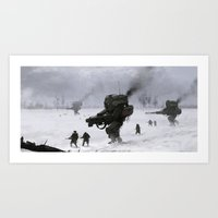 soviet Art Prints featuring soviet army by Jakub Rozalski