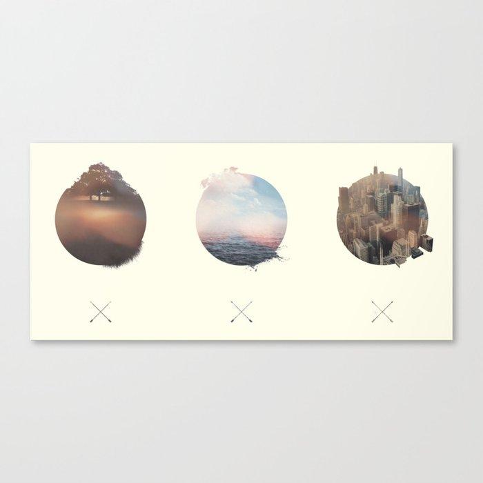 Complete Coast to Coast Canvas Print