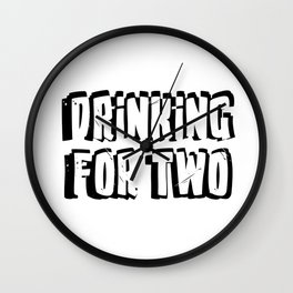 Drinking for Two Wall Clock