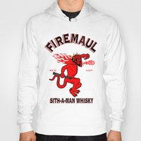 whisky Hoodies featuring Firemaul Whisky by Ant Atomic