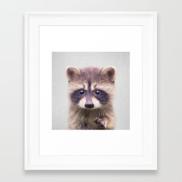 Raccoon - Colorful Framed Art Print