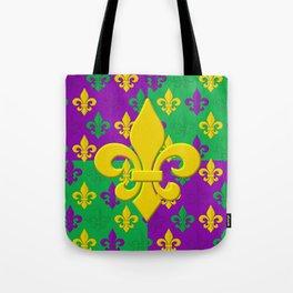 Mardi Gras Fleur-de-Lis Pattern Tote Bag