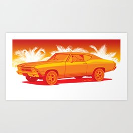 Orange Chevelle Art Print