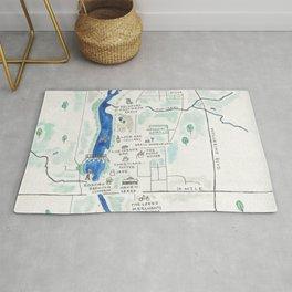 Rockford Map Rug