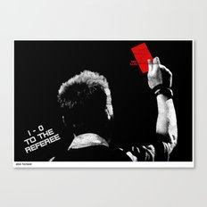 1-0 To The Referee Canvas Print