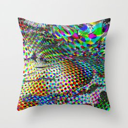 Once upon a halftone Throw Pillow