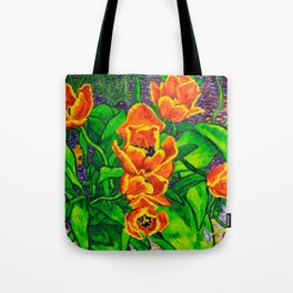 View of Tulips Tote Bag