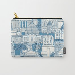 Washington DC toile blue Carry-All Pouch