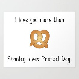 Pretzel Day Art Print