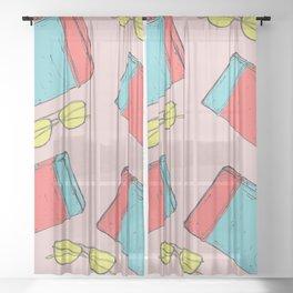 Summer Travels Sheer Curtain