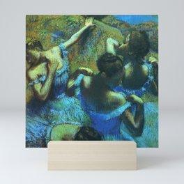 Blue Dancers by Edgar Degas Mini Art Print