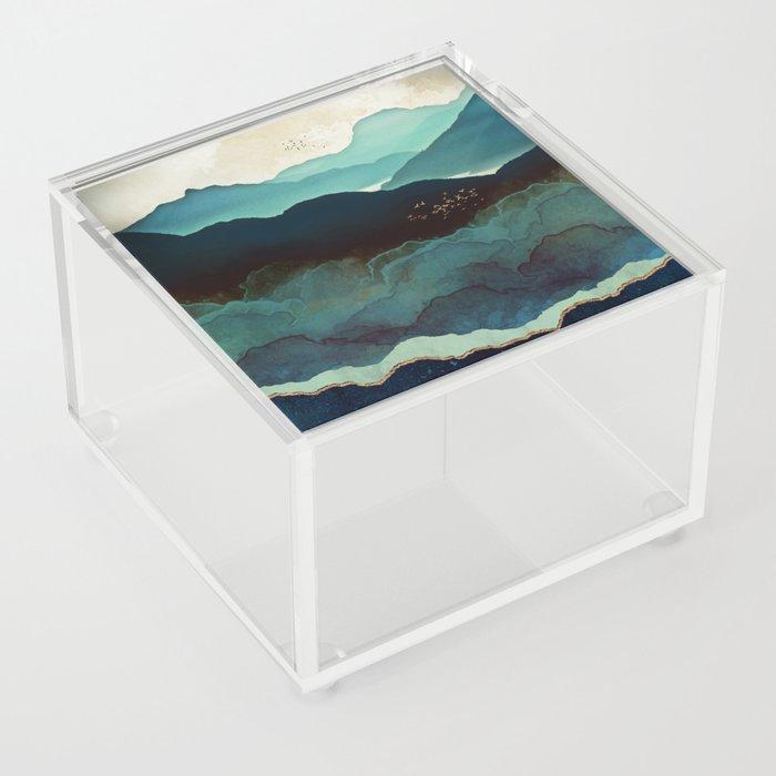 Indigo Mountains Acrylic Box