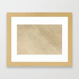 Aerial Views over Polzeath Beach, Cornwall Framed Art Print