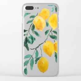 yellow lemon 2018 Clear iPhone Case