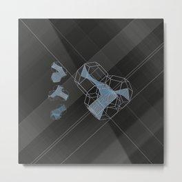 trple per mnml srf_001 Metal Print