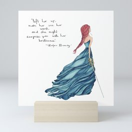 Before Beauty Isa Quote: A Classical Kingdoms Collection Collector's Print Mini Art Print
