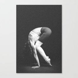 yoga and acroyoga woman beautiful Canvas Print