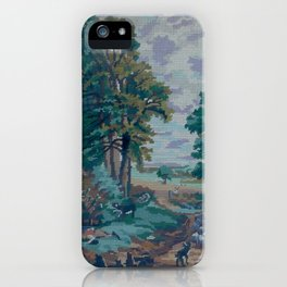 Green Forest by Lika Ramati  iPhone Case