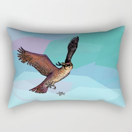 Owls are pretty much ninjas.   COLOR Rectangular Pillow