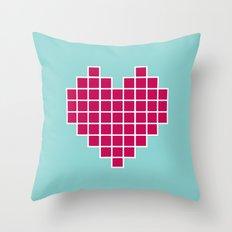 Pixelated Heart Throw Pillow