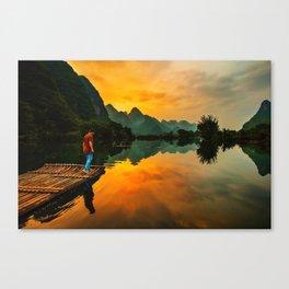 Sunrise on the Lake (Color) Canvas Print