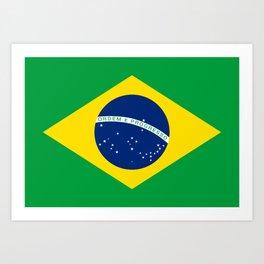 Brazilian National flag Authentic version (color & scale) Art Print