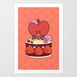 BT21 Tata Macaron Cake BTS V 방탄소년단 Art Print
