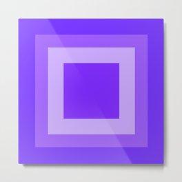 Blue Square Design Metal Print