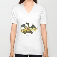 charizard V-neck T-shirts featuring Charizard by Thomas Official