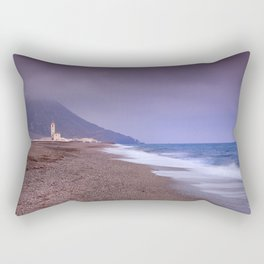Salinas Beach At Sunset. Rectangular Pillow