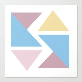 Geometric triangle pastel origami Canvas Print