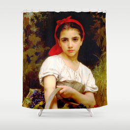 "William-Adolphe Bouguereau ""Harvester"" Shower Curtain"