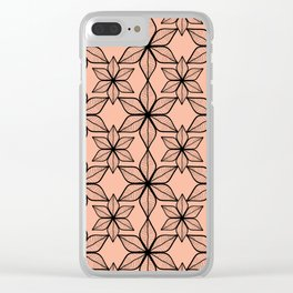 Living coral color that reminds of pretty broad leaves on tropical vacations. Clear iPhone Case