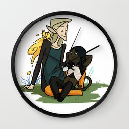 SH - Finch, Soot & Speckles Wall Clock