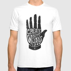 CREATE WITH YOUR HANDS MEDIUM Mens Fitted Tee White