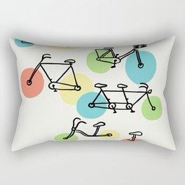 Riding Bubbles Rectangular Pillow