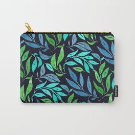 Loose Leaves - cool colors Carry-All Pouch