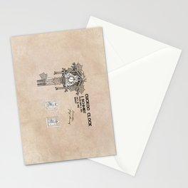 Cuckoo clock patent art Stationery Cards