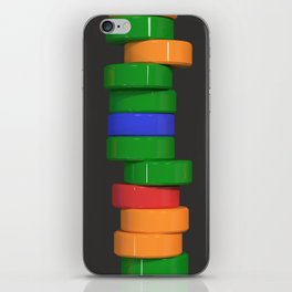 Colorful cylinders iPhone Skin