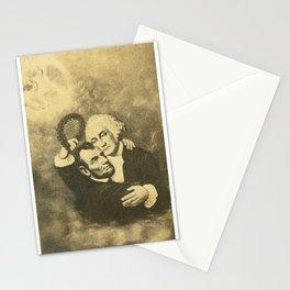 Washington & Lincoln Embrace Stationery Cards
