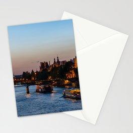 Pont des arts at nightfall - Paris, France Stationery Cards