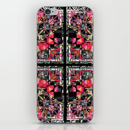 pink black and white pattern iPhone Skin