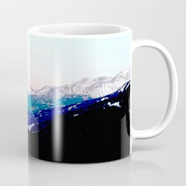Mountain views abstracted to color blocks Coffee Mug