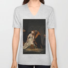 Paul Delaroche - The Execution of Lady Jane Grey Unisex V-Neck
