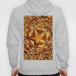 Elegant Shiny Copper Gold Christmas Star Hoody