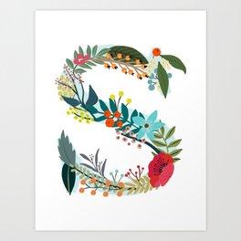 Monogram Letter S Art Print
