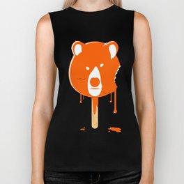 Orange Ice Cream Bear Biker Tank
