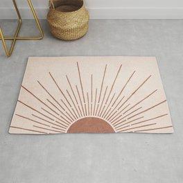 Sun #5 Terracotta Rug