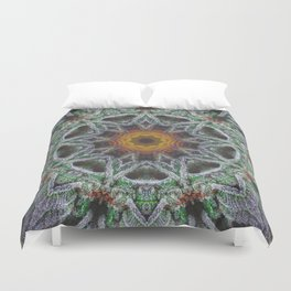 Crystal Feather Leaf Duvet Cover